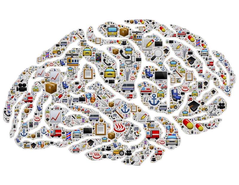 hjärna full med tankar